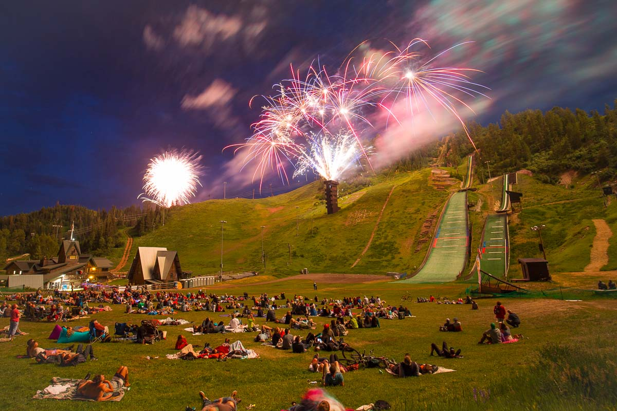 Summer fireworks at the iconic Howelsen Hill