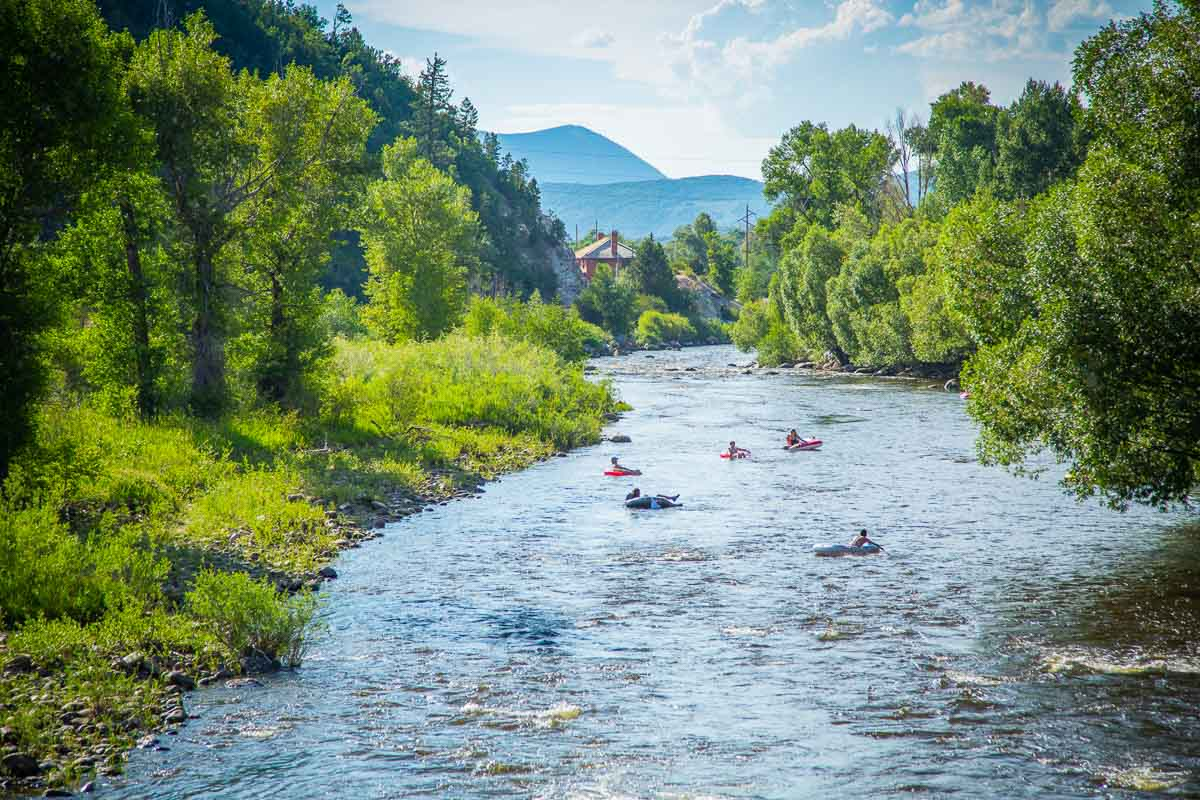 Summer tubing on the mighty Yampa River
