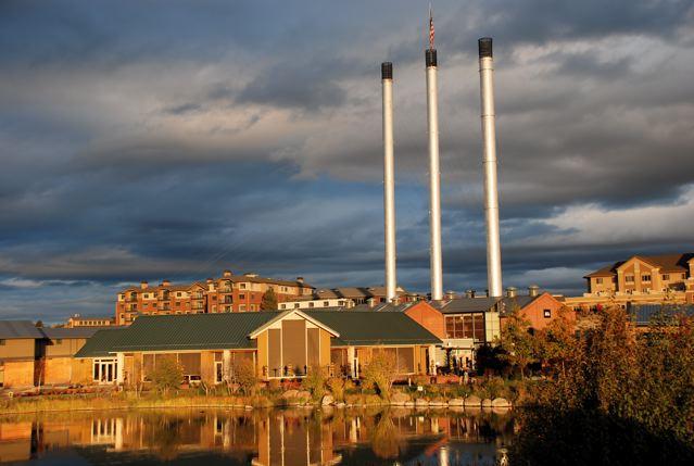 Old Mill Smoke Stacks