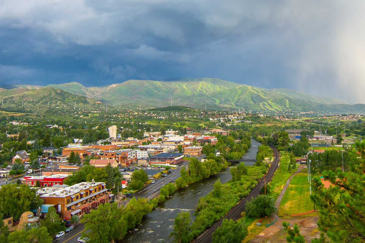 A stormy day in downtown Steamboat Springs
