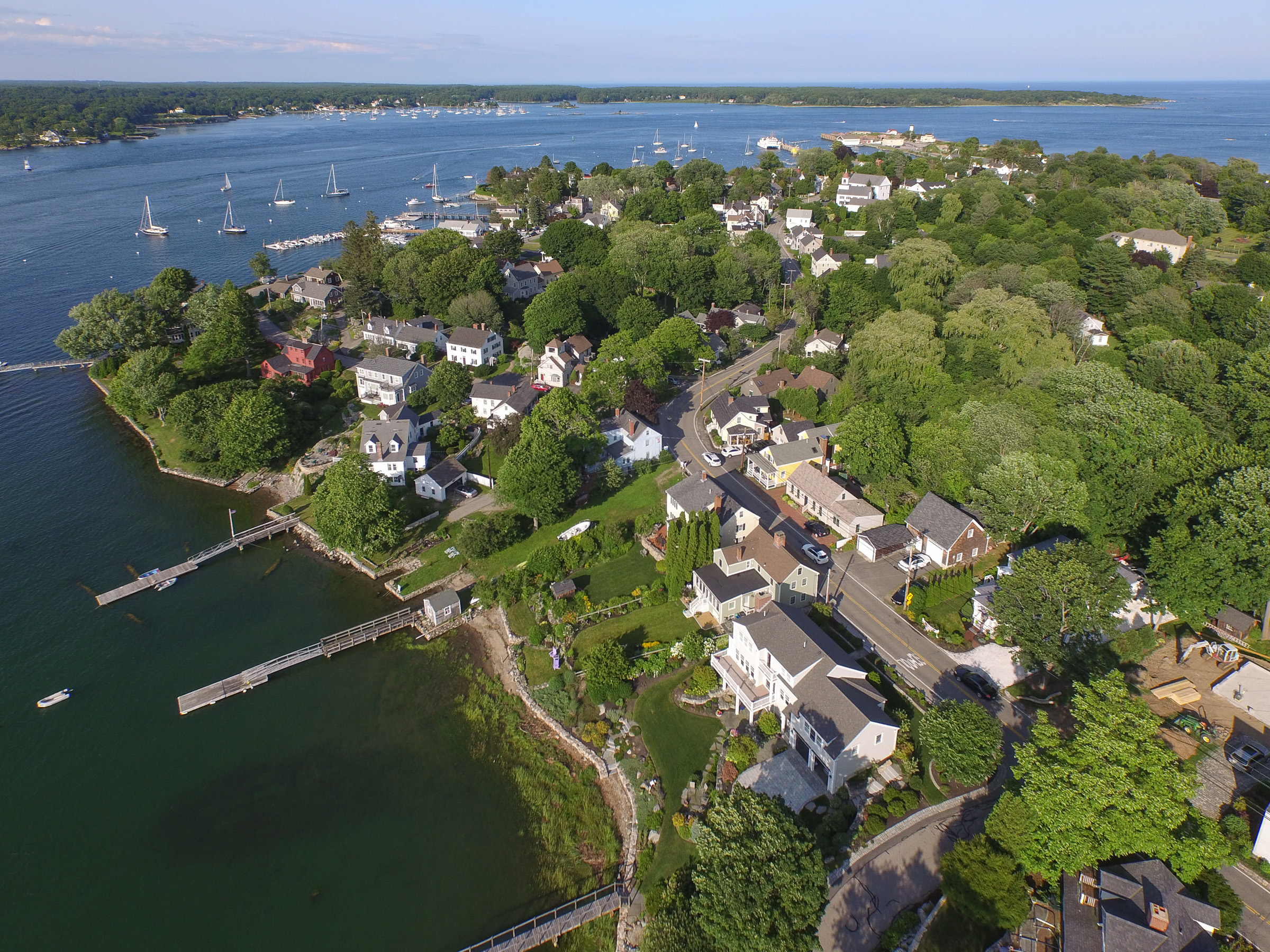 New Castle looking to Piscataqua River