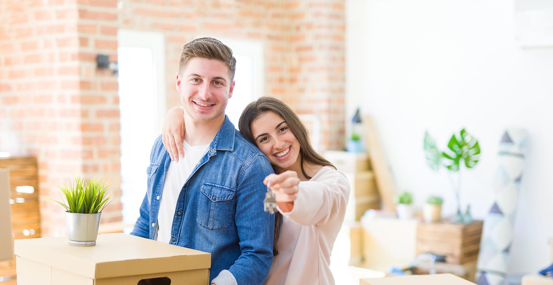 Home Buyer Getting Keys