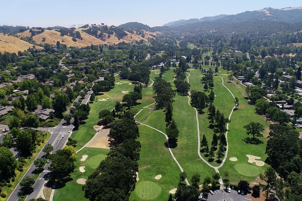 Overhead shot of Rossmoor golf course