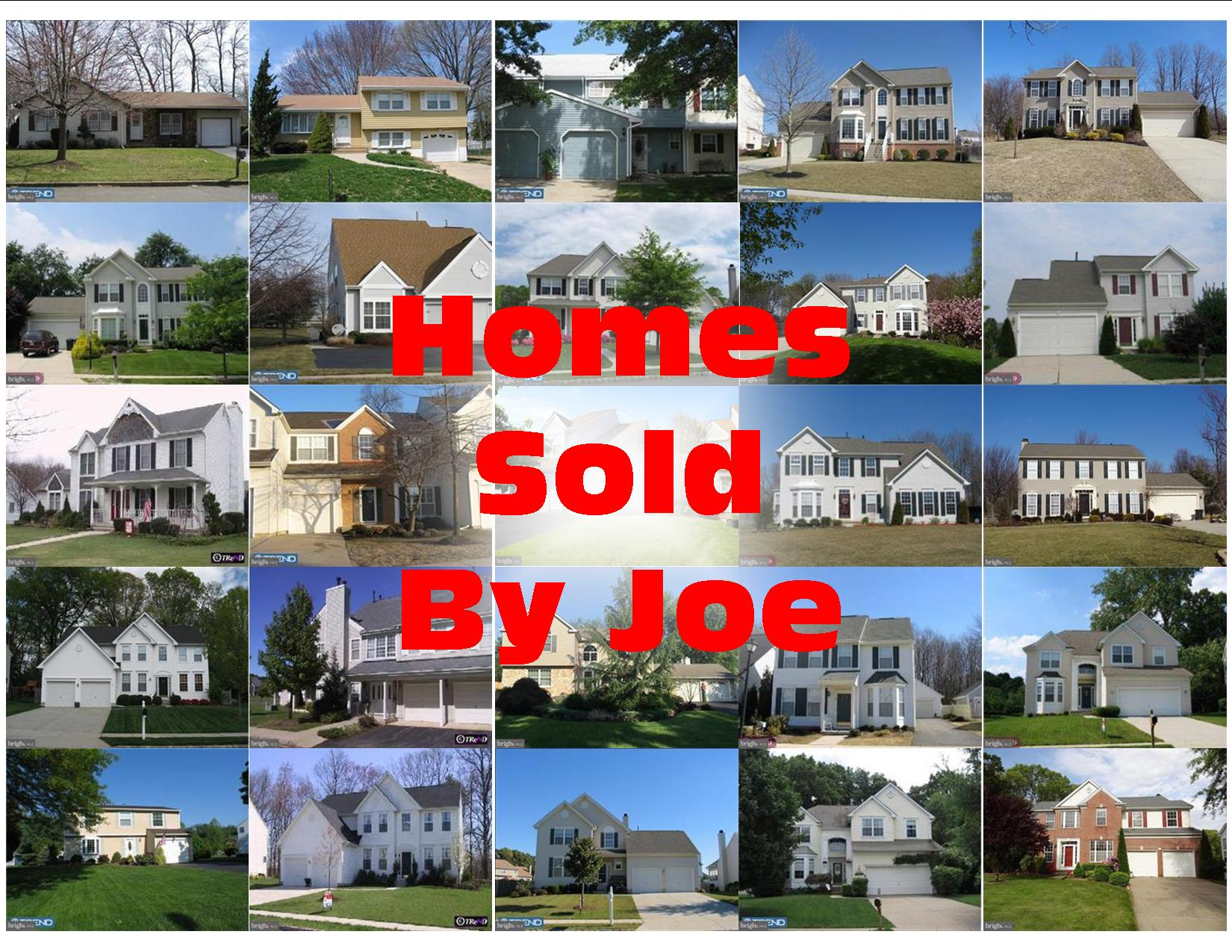Homes Sold By Joe