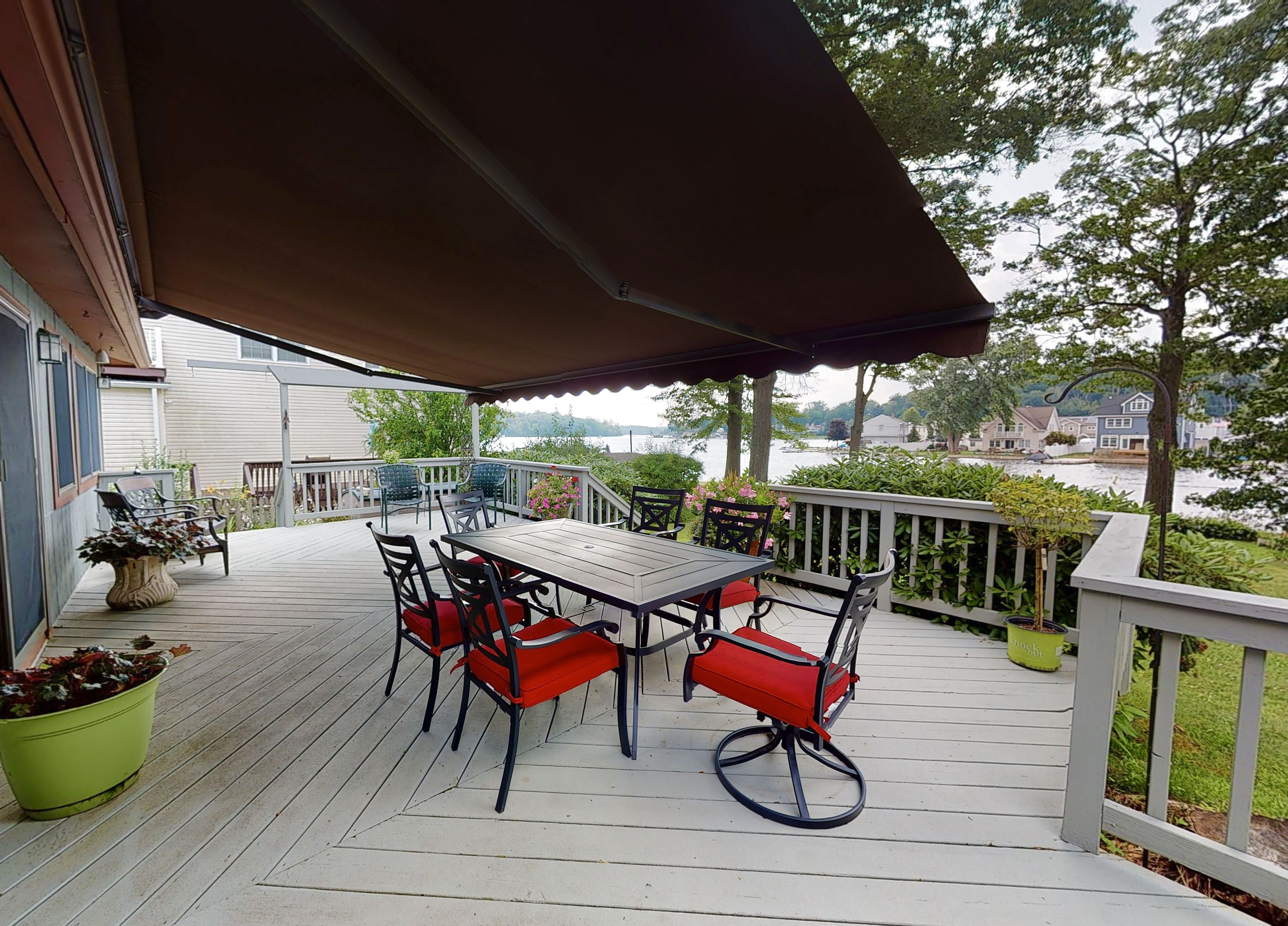 Lakefront home with huge deck and views in New Jersey Lake Hopatcong