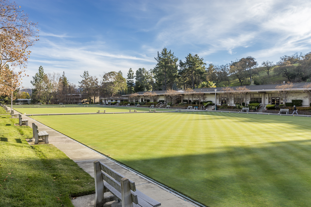 Rossmoor Hillside Clubhouse bowling greens