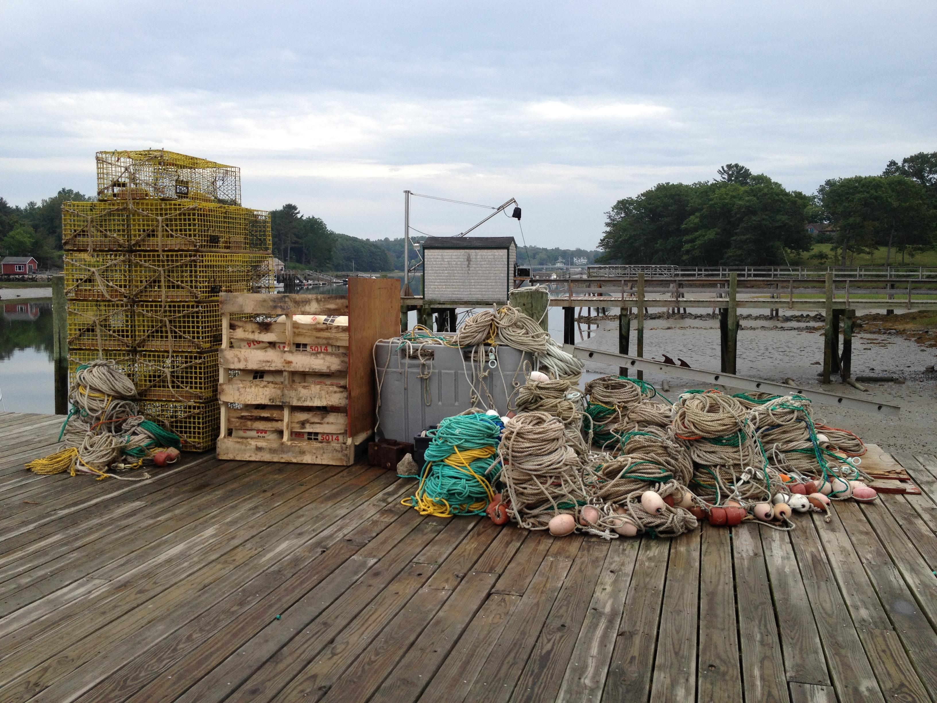 Lobster traps on Sewall's Bridge