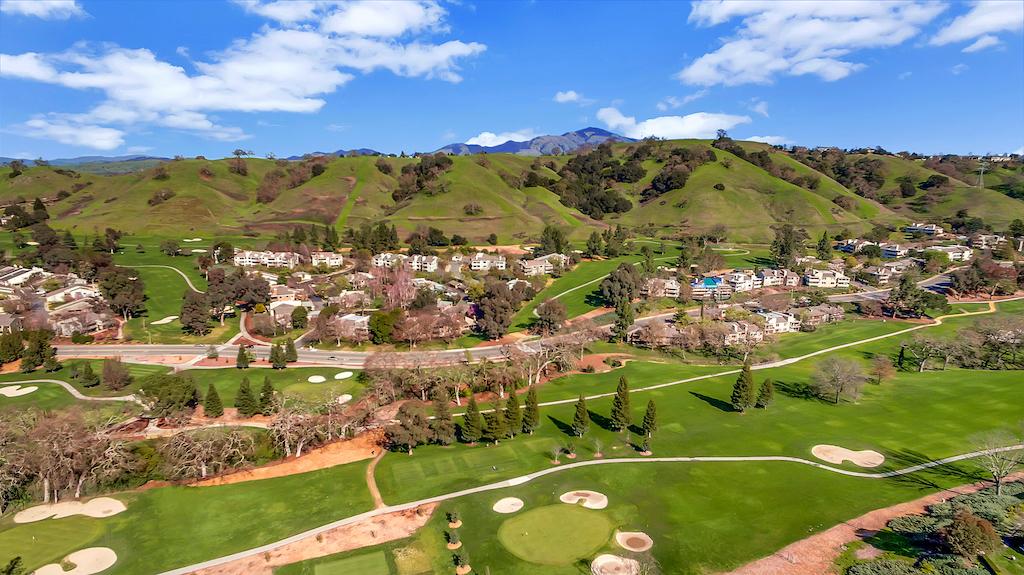 Overhead shot of Rossmoor hills and golf course