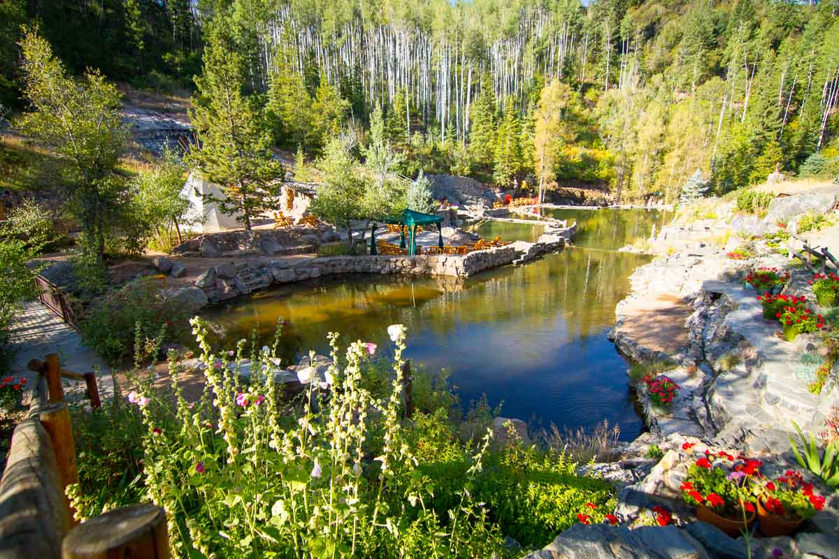 Spring time at the infamous Strawberry Park Hot Springs