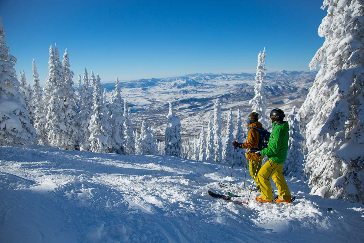 Skiing champagne powder at the world-class Steamboat Springs Resort