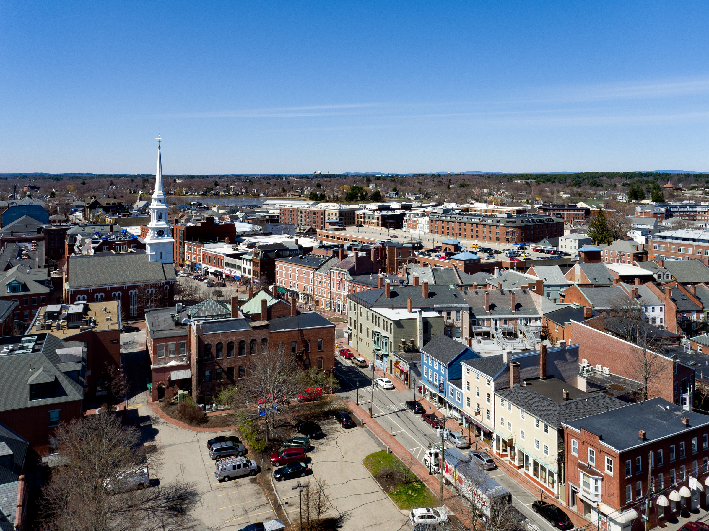 Downtown Portsmouth with North Church