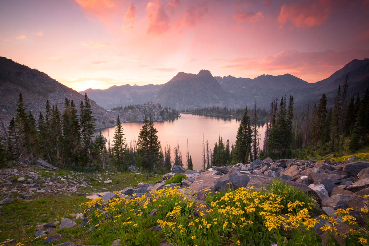 High alpine sunsets in the beautiful Routt County, Colorado