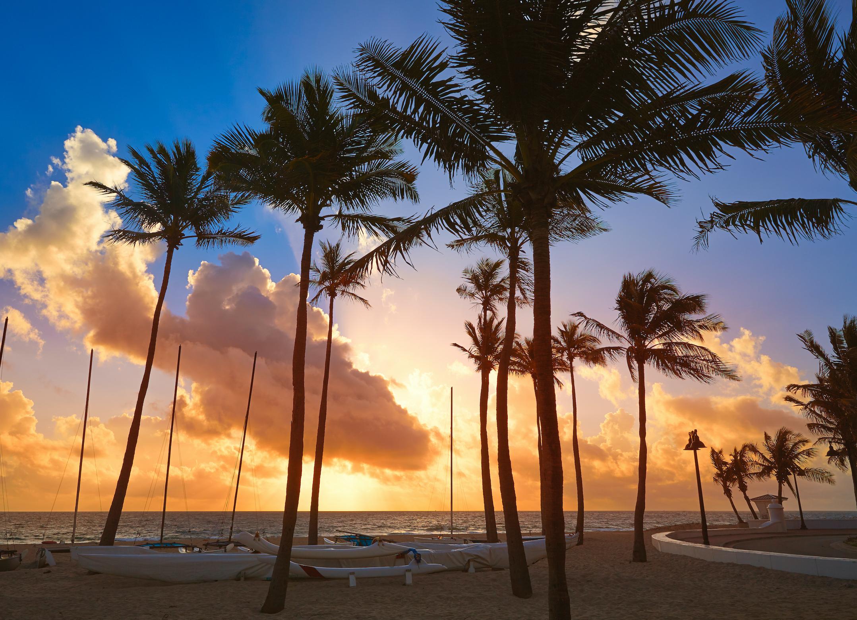 Sunset on Fort Lauderdale Beach.
