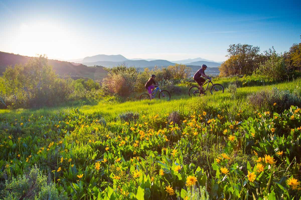 Spring mountain bike rides with views of Sleep Giant