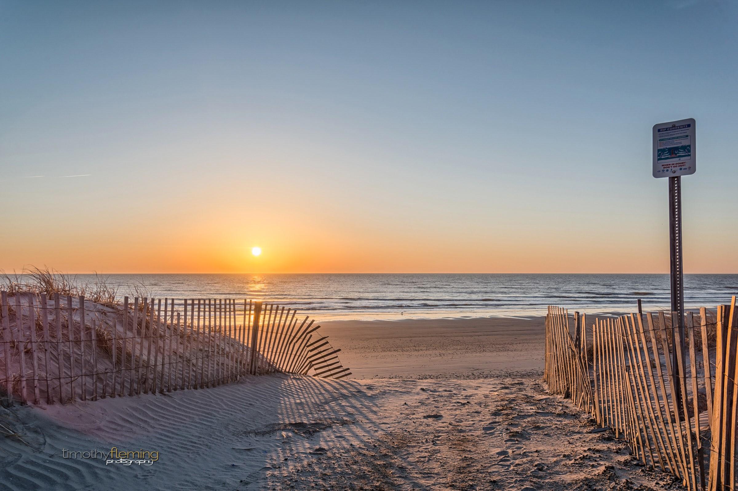 Sunrise in Wildwood, NJ