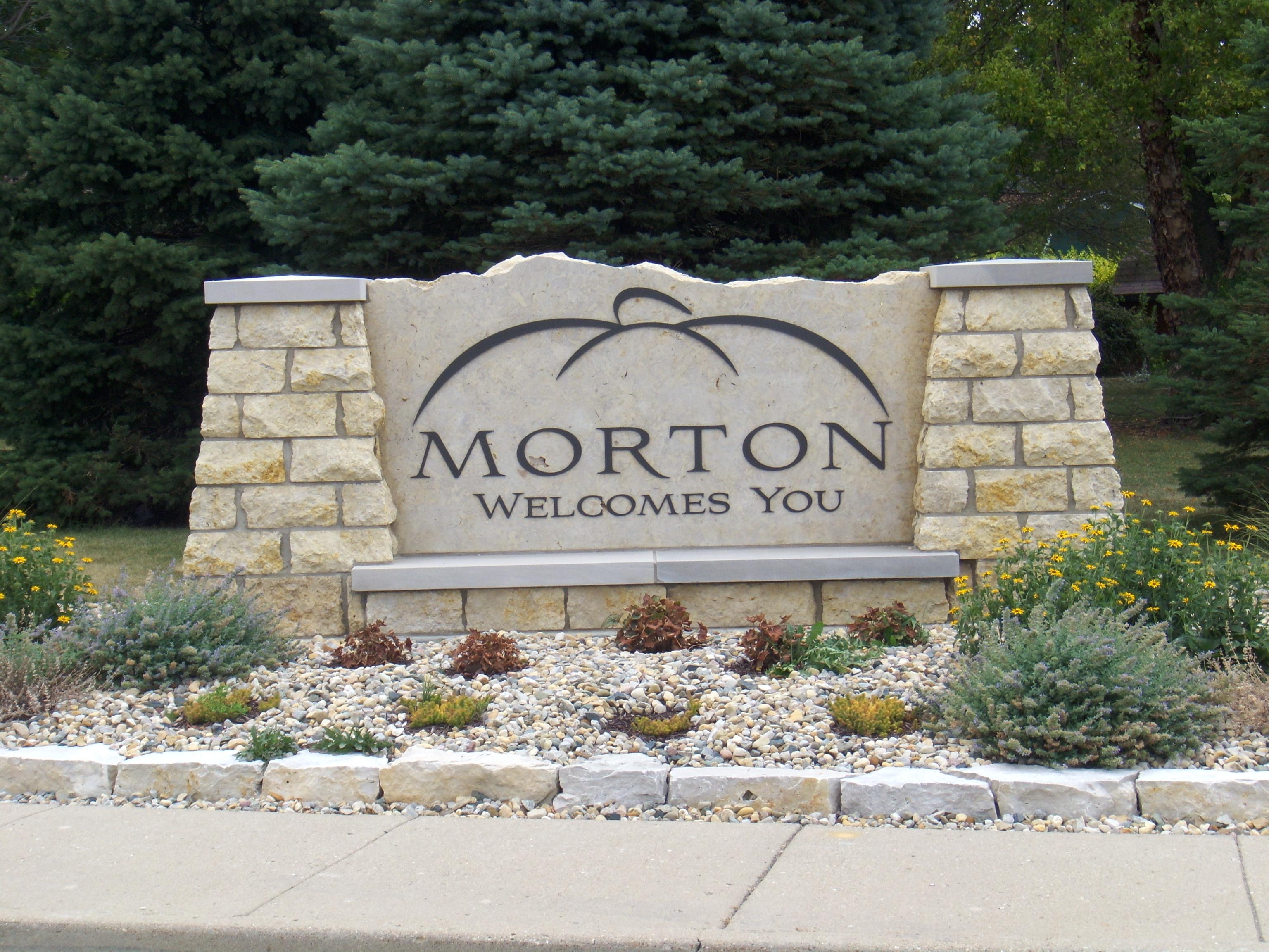 Morton Welcome Sign