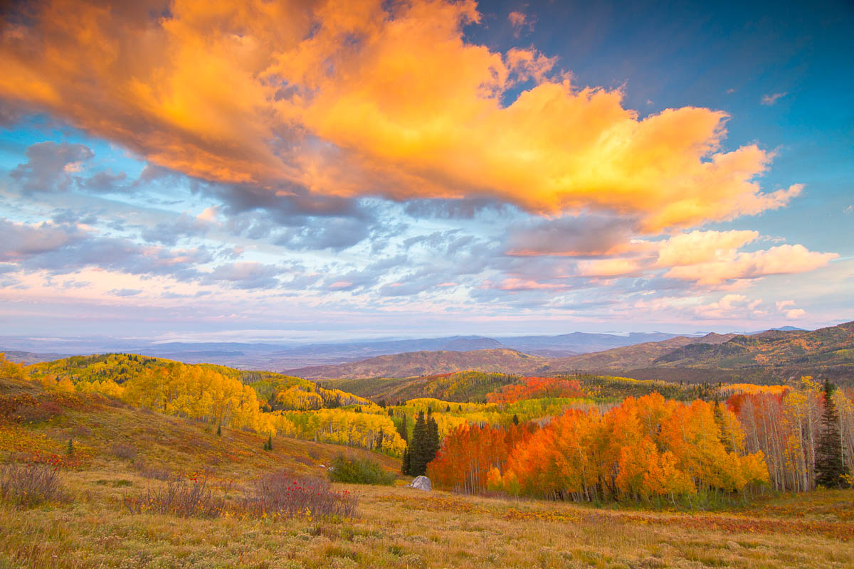 Fall sunsets in the Yampa Valley