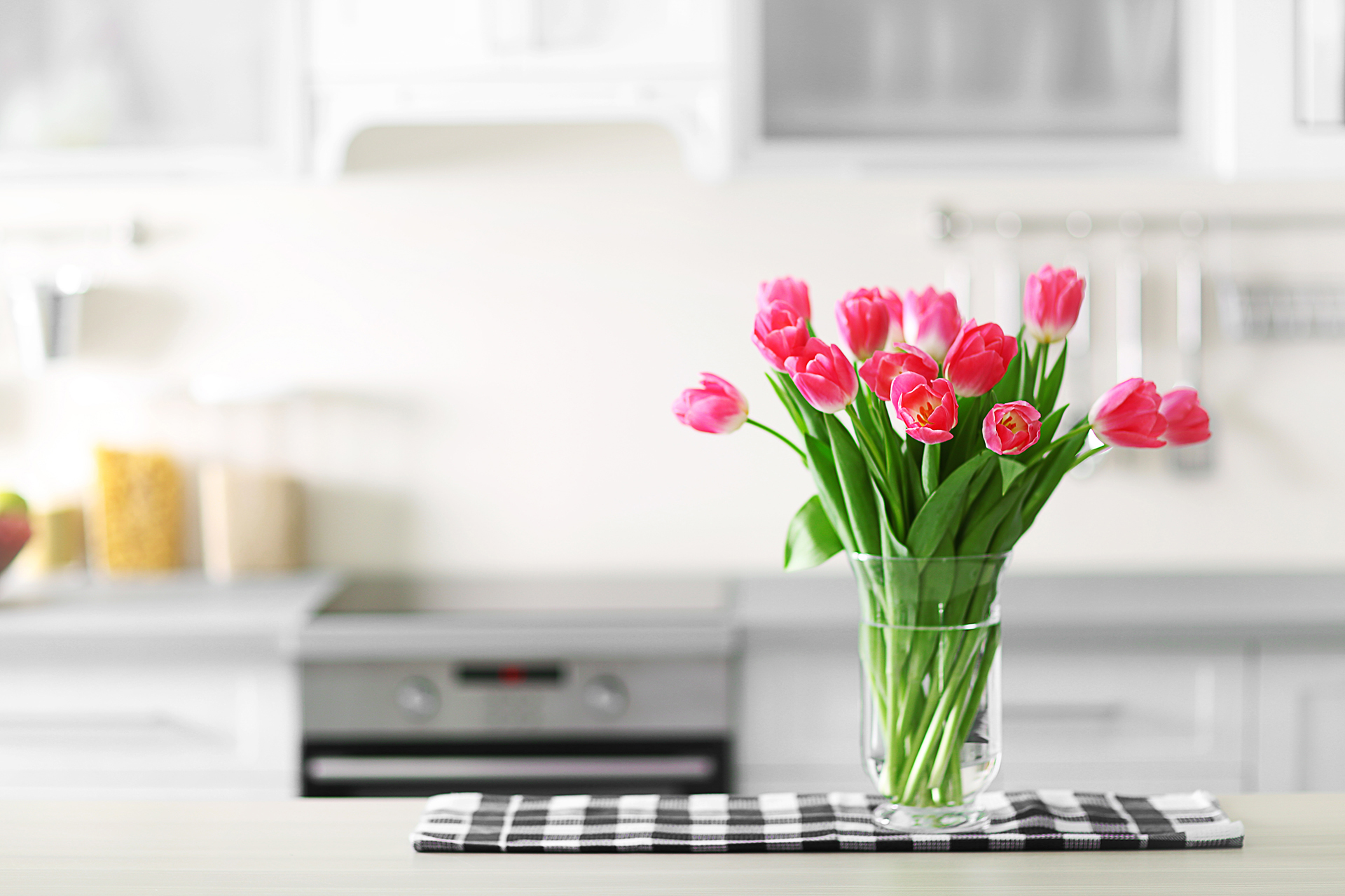 Tulips in Kitchen